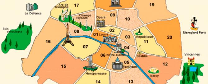 Mapa - Paris, França
